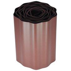 Trávniková obruba - plastový lem, 15cm x 9m, hnědý