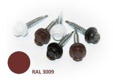 Šroub střešní samovrtný s EPDM podložkou, rozměr 4,8 x 20mm, barva RAL 3009, balení 200ks