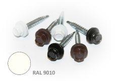 Šroub střešní samovrtný s EPDM podložkou, rozměr 4,8 x 20mm, barva RAL 9010, balení 200ks