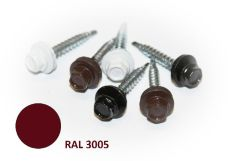 Šroub střešní samovrtný s EPDM podložkou, rozměr 4,8 x 20mm, barva RAL 3005, balení 200ks