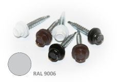 Šroub střešní samovrtný s EPDM podložkou, rozměr 4,8 x 35mm, barva RAL 9006, balení 200ks