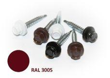 Šroub střešní samovrtný s EPDM podložkou, rozměr 4,8 x 35mm, barva RAL 3005, balení 200ks