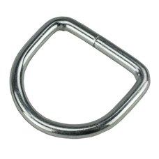 D kroužek svařovaný, 25 x 4mm, ZN