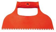 Stěrka plastová zubová 240mm / 4mm