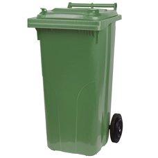 Popelnice plastová, 120L, zelená