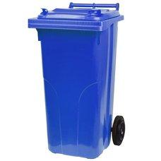 Popelnice plastová, 120L, modrá