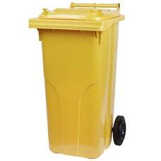 Popelnice plastová, 120L, žlutá