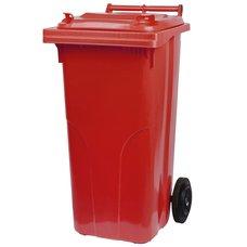 Popelnice plastová, 120L, červená