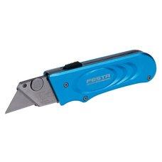 Nůž s vyměnitelným břitem, kovový, výsuvný s aretací, TURBO, FESTA