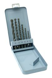 Vrtáky vidiové, sada 6ks, pr. 5-12mm, DIN 8039