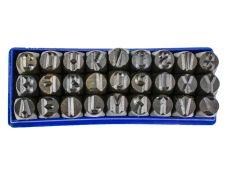 Raznice ocelové  6mm, znaky ABC, FESTA