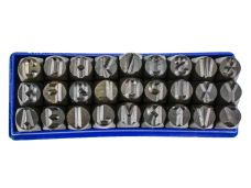 Raznice ocelové  8mm, znaky ABC, FESTA