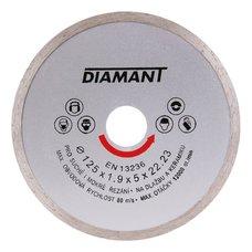 Diamantový kotouč plný 125mm, DIAMANT