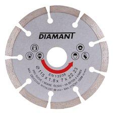 Diamantový kotouč, segmentový, 115mm, 22,2mm, DIAMANT