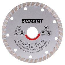 Diamantový kotouč, TURBO, 125mm, 22,2mm, DIAMANT