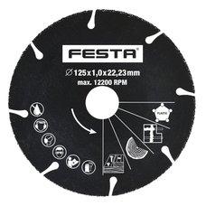 Kotouč karbidový, univerzální, 125 x 22,2mm, FESTA