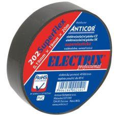 Izolační páska SuperFlex PVC, 19mm / 20m, černá