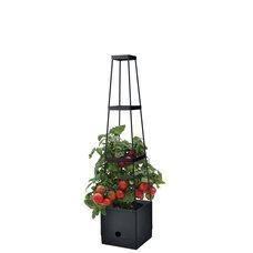 Květináč plastový s opěrnou věží, 25x25x150 cm, STREND PRO
