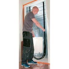 Protiprachové dveře, folie, 215 x 112cm, U-Zipper