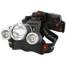 Čelová LED svítilna, 9W T6 + 2 XPE, 300lm, USB nabíjecí, H931R, STREND PRO