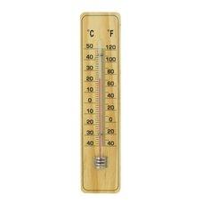 Teploměr pokojový dřevěný, 215x48mm, světlý