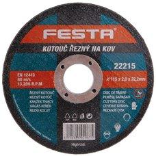 Kotouč řezný na kov, 115 x 2,0mm, 22,2mm, FESTA