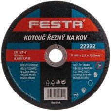 Kotouč řezný na kov, 180 x 2,5mm, 22,2mm, FESTA