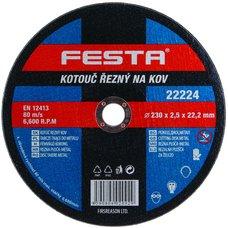 Kotouč řezný na kov, 230 x 2,5mm, 22,2mm, FESTA