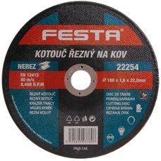 Kotouč řezný na kov, 180 x 1,6mm, 22,2mm, FESTA