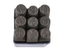Raznice ocelové 10mm, znaky čísla
