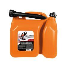 Kanystr kombinovaný plastový, 6 + 2,5L, oranžový