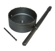 Korunkový vrták s SK plátky, pr. 150mm, SDS MAX, stopka 400mm, MAGG