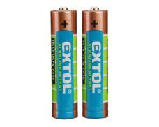Baterie alkalická, 1,5V, AA (LR6), sada 2ks, EXTOL ENERGY ULTRA+