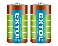 Baterie alkalická, 1,5V, C (LR14), sada 2ks, EXTOL ENERGY ULTRA+