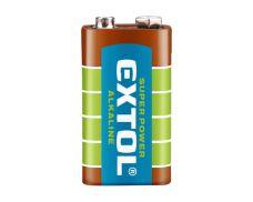 Baterie alkalická, 9V (6LR61), EXTOL ENERGY ULTRA+