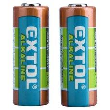 Baterie alkalická, 12V (6LR61), sada 2ks, EXTOL ENERGY ULTRA+