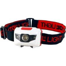 Čelová LED svítilna,  1W LED,  40lm, bílá + červená, EXTOL LIGHT