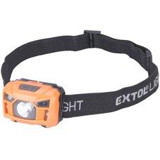 Čelová LED svítilna, 3W LED, 100lm, se senzorem, EXTOL LIGHT