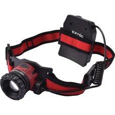 Čelová LED svítilna, 10W XPL LED, 450lm, ZOOM, nabíjecí, EXTOL LIGHT