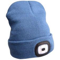 Čepice s LED čelovkou, 4x45lm, USB nabíjecí, UNI, modrá, EXTOL LIGHT