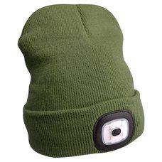 Čepice s čelovkou 45lm, nabíjecí, USB, uni velikost, zelená, EXTOL LIGHT