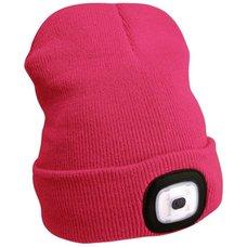 Čepice s čelovkou 45lm, nabíjecí, USB, uni velikost, růžová, EXTOL LIGHT