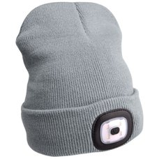 Čepice s LED čelovkou, 4x45lm, USB nabíjecí, UNI, šedá, EXTOL LIGHT