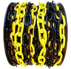 Řetez plastový, pr. 6mm, balení 25m, černo-žlutý
