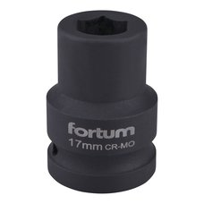 "Gola hlavice rázová 3/4"", 17mm, CrMoV, FORTUM"