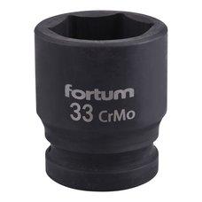 "Gola hlavice rázová 3/4"", 33mm, CrMoV, FORTUM"