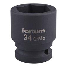 "Gola hlavice rázová 3/4"", 34mm, CrMoV, FORTUM"