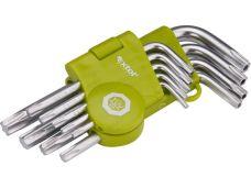 Klíče TORX krátké, sada 9 ks, T10 - T50, EXTOL CRAFT