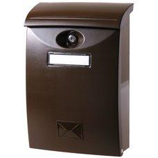 Schránka poštovní, plast, hnědá, 34,5 x 24cm, ABS, SATOS