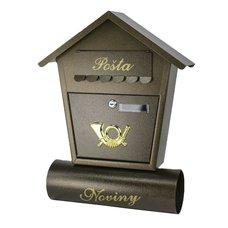 Poštovní schránka, ocel, kladívková hnědá, 48 x 37cm, Štěpán, SATOS